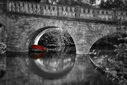 Brücke Boot Schloß Brake Lemgo