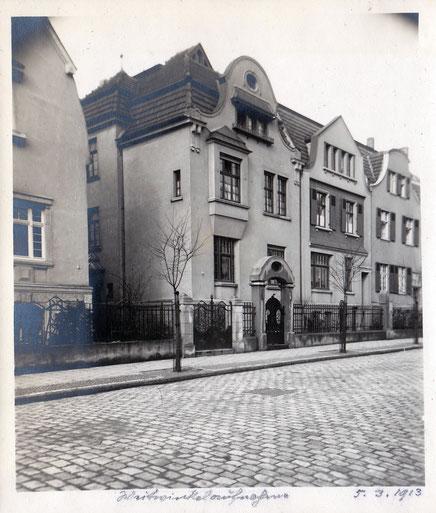 Gertrudenstraße 1913-  Sammlung Stoffers (Münsterländische Bank - Stadtarchiv)