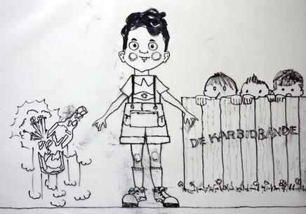 Henning und die Karbidbande - Zeichnung: Wilfried (Schrolli) Schroeder