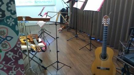 森充ギター教室のスタジオ風景
