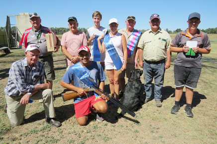 L - R.  Victor Bowman, David Jackel, Rhys McGauran, Angela Kloppenborg, Mark Reynolds, Christopher Kloppenborg, Ben Kuschert. Kneeling - Graham Coyle, Jacob Motha and Cinder the labrador.