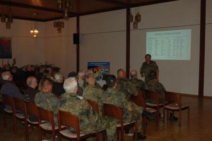 Am 15.August fand unser monatliches Treffen im Casino der Hachenberg Kaserne statt - Reservisten Wittegnstein