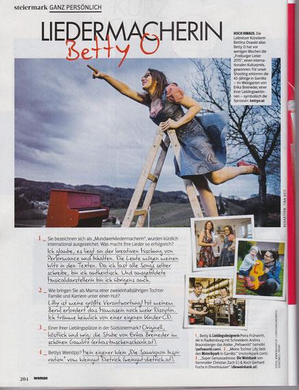 Bericht im Magazin Woman