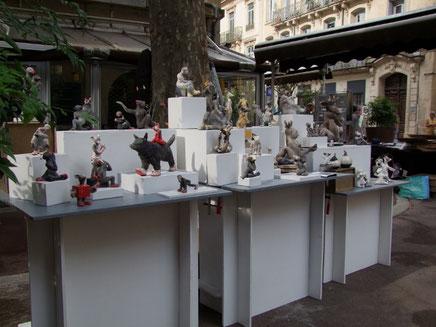 stand de sculpture au clap'arts festival de montpellier
