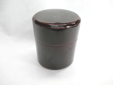 茶筒の漆器修理前