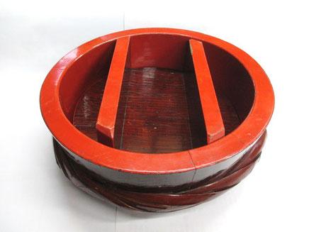 寿司桶の漆器修理前