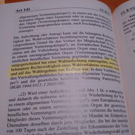 Artikel 141 der Bundesverfassung!