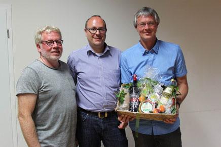 Frank Boberg, Markus Kisler, Georg Weingarten, Foto: SSV Menden