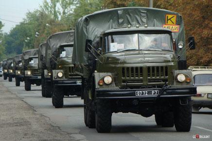 Российские военные грузовики появились в Поти и Сенаки