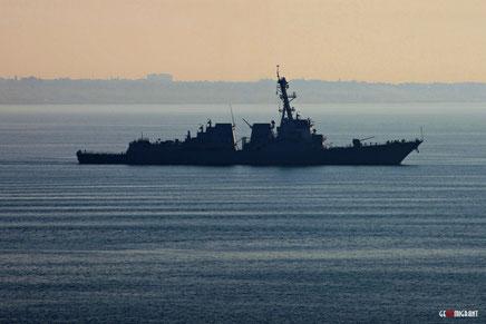 В акваторию Черного моря вошел Американский боевой эсминец «Jason Dunham»