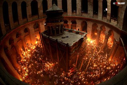 Православный мир сегодня ждет схождения Благодатного огня в храме Гроба Господня