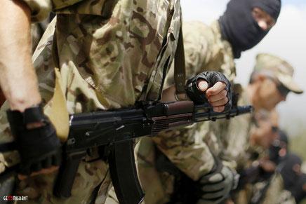 Кровопролитное столкновение «Грузинского Легиона» с «Кадыровцамы» в Донецке