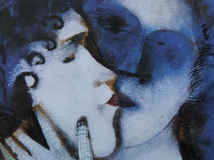 Chagall - Les amants bleu