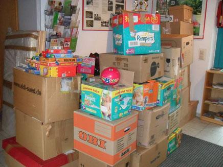 Spenden vom letzten Besuch im Kinderdorf