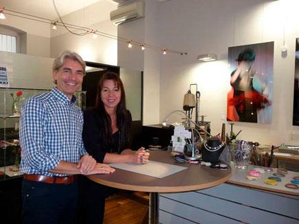 Petra und Bernd Sentner, die kreativen Köpfe der Schmuck Galerie