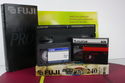 VHS, Video2000, Betamax, Hi8, Digital8 und mehr digitalisieren