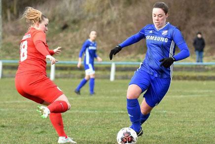 Gute Vorstellung: Sarah Landinghoff-Schmidt überzeugte im Trikot der Viktoria beim 1:3 gegen Kickers Offenbach.