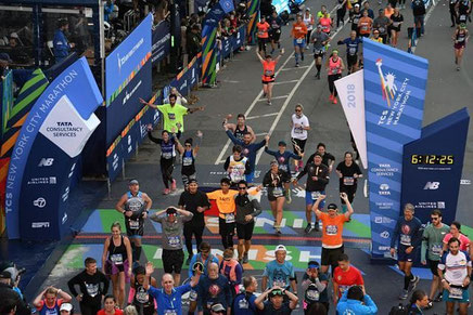 Die Ziellinie des New York City Marathons (Foto: zVg)