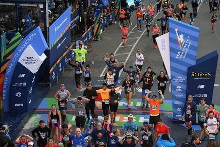 Die Ziellinie des New York City Marathons (Foto: zVg)