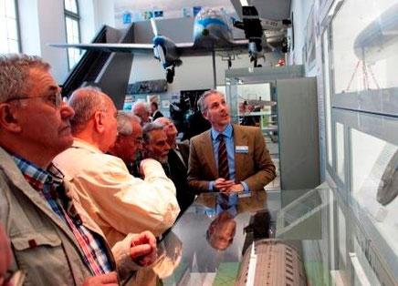 Unsere IG besuchte im vorigen Jahr die ständige  Luftfahrt-Ausstellung im Verkehrsmuseum