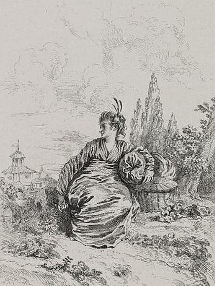 Watteau, servante. Hélène Belevitch-Stankevitch : Le goût chinois en France au temps de Louis XIV. — Jouve et Cie, Paris, 1910.