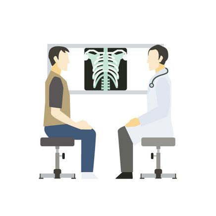 かぶらぎ整骨院・整体院ブログ 整形外科でのレントゲン検査イメージ