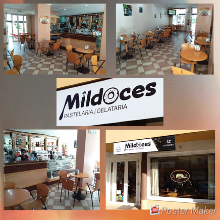 Pastelaria Mildoces in Lagos,Algarve,Portugal perfekt für eine kleine Pause mit einem gutem Kaffee und Kuchen.