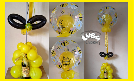 Bubble Ballon Biene Be Happy Latexballon