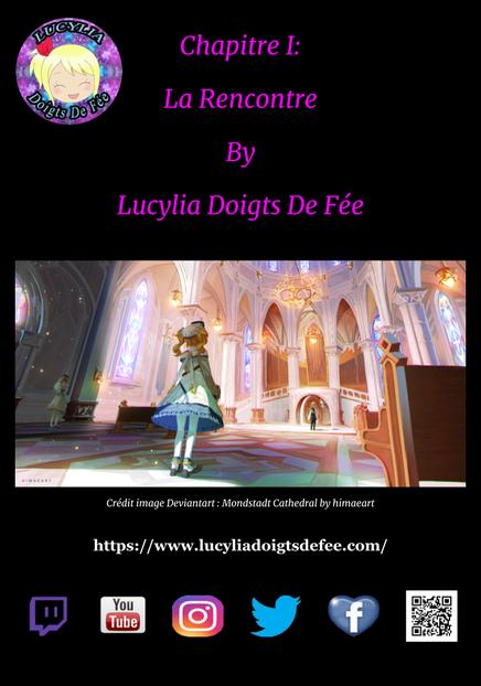 couverture du recueil spécial lucylia doigts de fée, illustrée par Cyrianava
