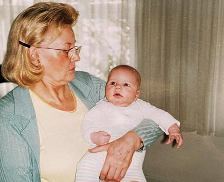 Margarethe Beyer mit Gian-Luca