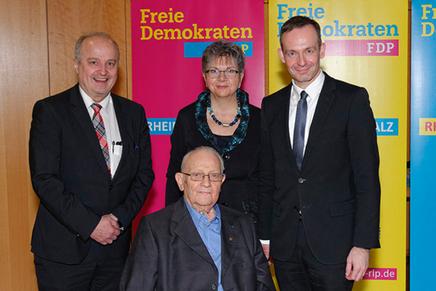 von links: Ringhoffer, MdL Lerch, Dr. Wissing und Kaiser, Bild: FDP Budenheim
