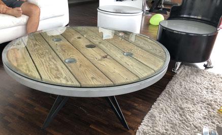 pied de table ronde design en métal