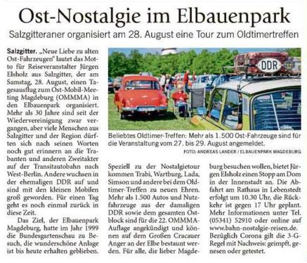 Neue Liebe zu alten Ost-Fahrzeugen; Bahn Nostalgie Reisen