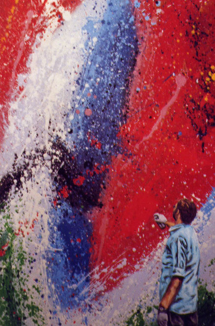 Dephect painting - spraypaint, acrylics on canvas - 70x50 cm - 2004 (sold)