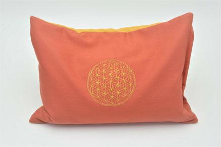 Pillow flower of life , Meditationskissen, Kräuterkissen, Energiekissen, Hirsekissen, Zirbe