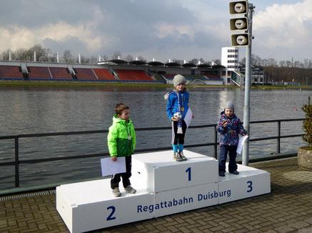 Bezirkswaldlauf 6.3.2016, !. Platz Ida Siry, 3. Platz Felix Gottlieb
