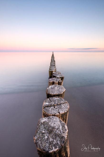 Kellenhusen, Ostsee, Buhnen, Langzeitbelichtung, 2021, © Silly Photography