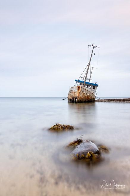 Dänemark, Jütland, Schiffswrack, Langzeitbelichtung, 2021, © Silly Photography