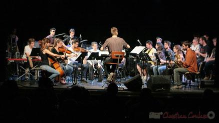 Festival JAZZ360 2011, Big Band du Conservatoire Jacques Thibaud, salle culturelle de Cénac. Photographie : Christian Coulais