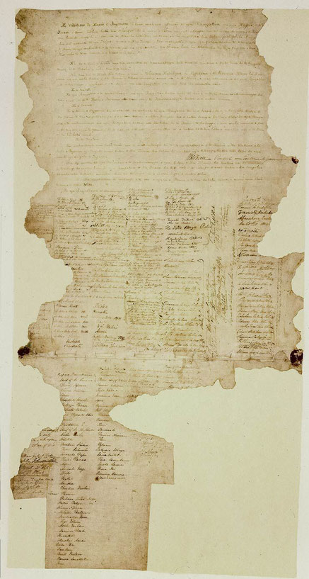 Der Treaty of Waitangi (Quelle: www.archives.govt.nz)
