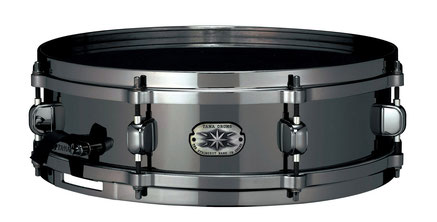 "Metalworks Series - Metall: Stahl - 14""x4"" - lmt. ed. Schwarz Hardware - Evans Hydraulic Black Snarehead"