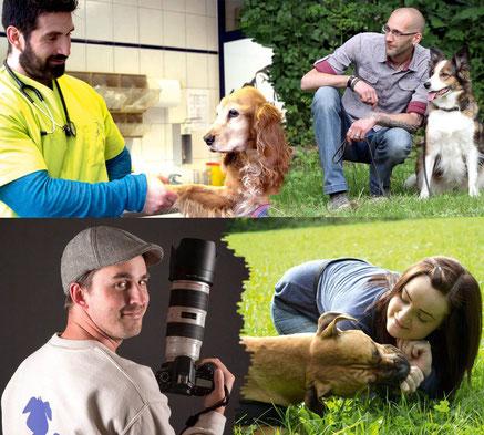 Tierarzt Dr. Valentin Dokos, Hundetrainer Kai Dahlhaus, Fotograf Pascal Schäpers, Hundetrainierin Beatrice Isenburg