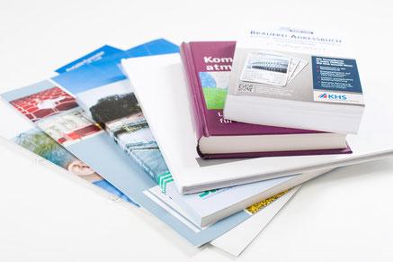Mappen, Broschüren und Buchmuster