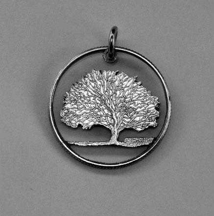 Münzsägewerk Katrin Thull   USA - Conneticut Baum Charter Oak (Eiche)