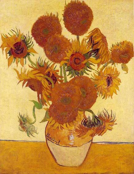 Подсолнухи - самые известные картины Ван Гога