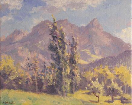 Les montagnes de Barcelonnette dans les Alpes de Hautes Provence, « Le Pain de Sucre » et « Le Chapeau de Gendarme ».