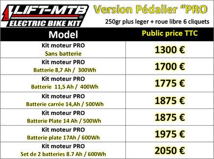 Tarif lift mtb HXR