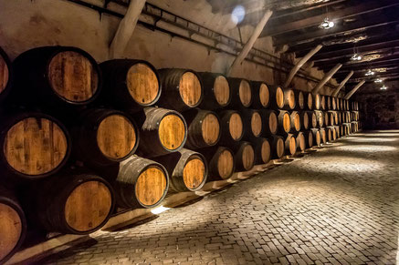 Best things to do Porto - Barrels in the wine cellar in Porto in Portugal Copyright S-F
