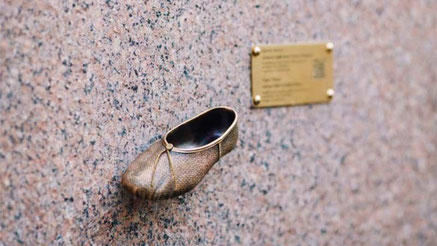 Ballet shoe monument in Kiev