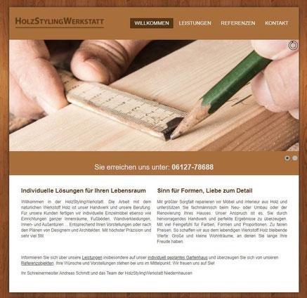 Website HolzStylingWerkstatt, Niedernhausen